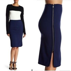 DVF Noemi Side Zip Pencil Skirt